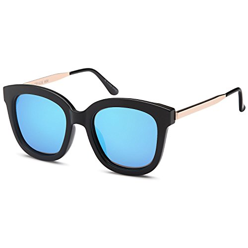 0a1e891d32f62 CATWALK UV400 Womens Round CatEye Sunglasses with Design Fashion Frame and  Flash Lens Option - Buy Online in UAE.