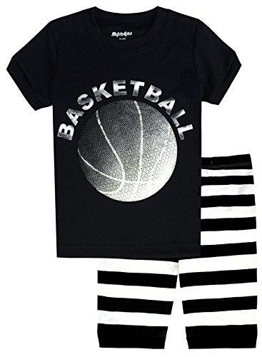 Basketball Boys Pajamas - Dolphin&Fish Little Boys Short Pajamas Basketball 100% Cotton Kids Pjs Toddler Clothes Sleepwear Size 6