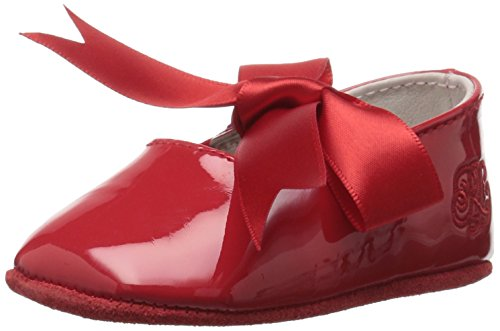 Ralph Lauren Layette Girls' Briley Red Tartan Ballet Flat, Patent, 2 M US Infant