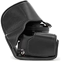 MegaGear Ever Ready Protective Leather Camera Case, Bag for Sony Alpha a5000, Sony a5100 with 16-50mm OSS Lens (Black)