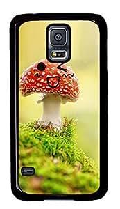 Custom Samsung Galaxy S5 Case,Red mushroom cartoon TPU Black Samsung Galaxy S5 Cases