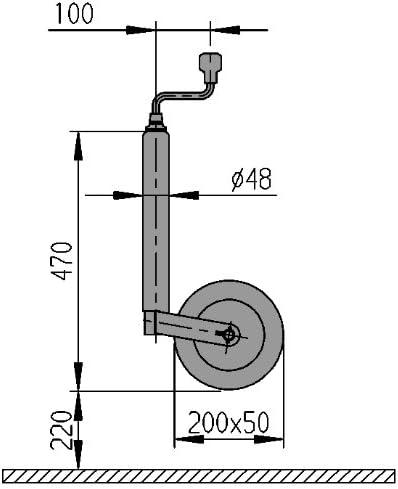 Al Ko Stützrad 50mm Nr 1224351 Mit Fußbremse 150 Kg Sport Freizeit