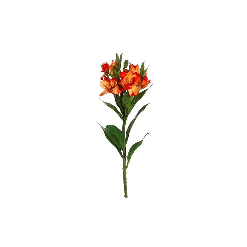"""silk flower arrangements 25"""" silk alstroemeria flower spray -2 tone orange (pack of 12)"""