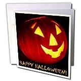 3dRose Sandy Mertens Halloween Designs - Happy Halloween Jack o Lantern - 12 Greeting Cards with envelopes (gc_6028_2)