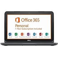 Dell Inspiron 11 11.6 HD LED Backlight Laptop Computer, AMD A6-9220e up to 2.4GHz, 4GB DDR4, 32GB eMMC + 128GB SD, HDMI, Bluetooth, USB 3.0, Webcam, Office 365 1-year, McAfee LiveSafe, Windows 10