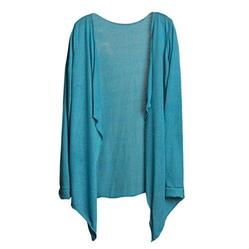 Protezione Lunga Lungo Donne Manica Azzurro Abbigliamento Sottile LQQSTORE Moda Blusa Cardigan Modale a Top Solare w1pvFqHt