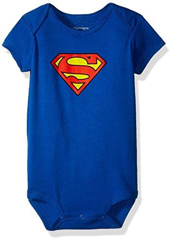 A&E Designs Superman Classic Logo Baby Romper