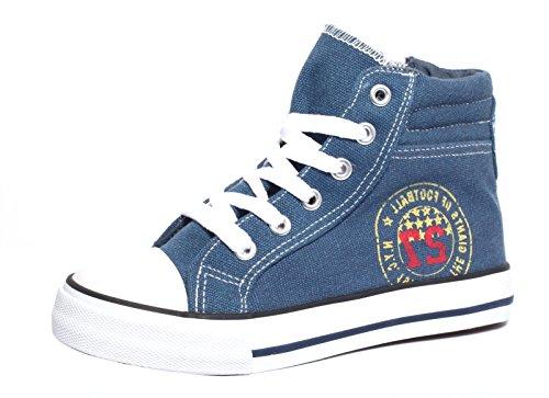 Kinder Canvas Sneaker Gr. 31-34, Navy