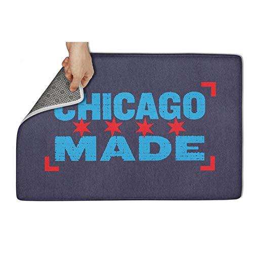 (CVBRLFDD Illinois State Chicago Made White Door Mat Rugs Non Slip Non-Slip Door Mat for Outside Printted Waterproof Popular Bathroom 31
