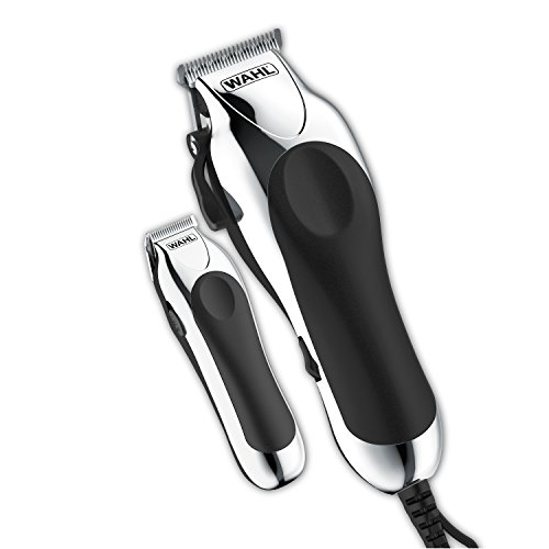 - Wahl Deluxe Chrome Pro, Complete Hair and Beard Clipping and Trimming Kit, Includes Quality Clipper with Guide Combs, Cordless Trimmer, Styling Shears, for A Cut Every Time, 79524-5201