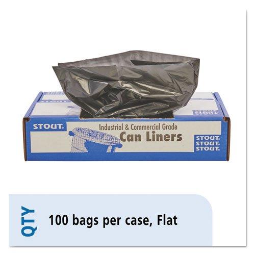 合計リサイクルコンテンツゴミ箱バッグ、56 Gallon, 1.5 Mil、40 x 48、ブラウン、100 / Ctn B00L5XIQ16