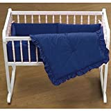 BabyDoll Primary s Cradle Bedding, Royal Blue, 18''x36''