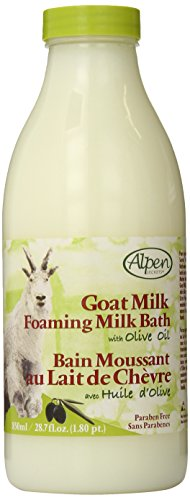 Alpen Milk - Alpen Secrets Goat Milk Foaming Milk Bath with Olive Oil, 28.7 Fluid Ounce (Pack of 2)