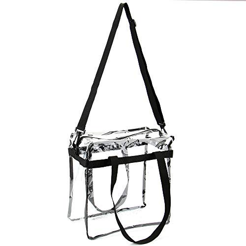Jomparo 12''X12''X6'' Clear Tote Bag Stadium Approved Perfect for NCAA NFL PGA Work Sports Games by Jomparo (Image #2)
