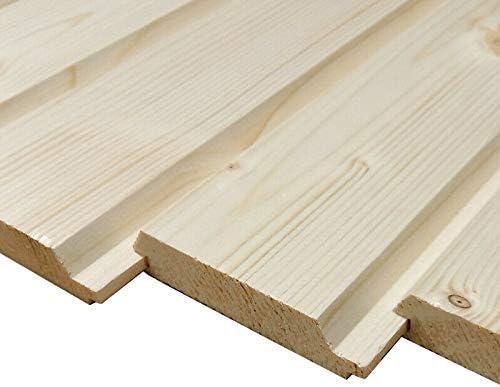 Profilholz 20x90mm Fichte Profilbretter Brett Holz Holzbretter Profilbrett Fassadenprofil 5, 100