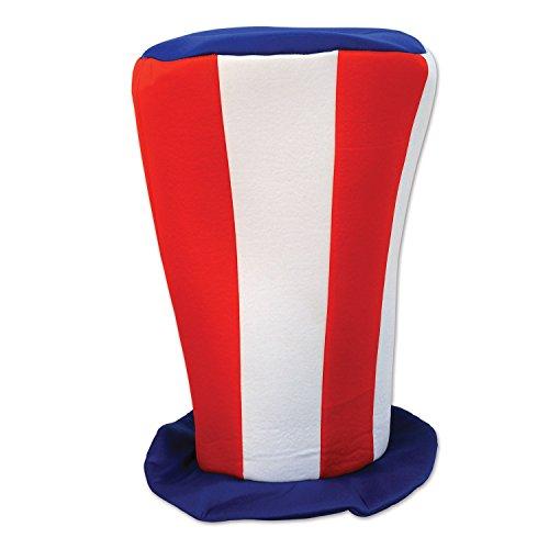 Beistle 60026 Patriotic Plush Tall Top Hat, 16