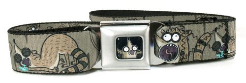 Regular Show Rigby Seat Belt Buckle Belt, One size fits most