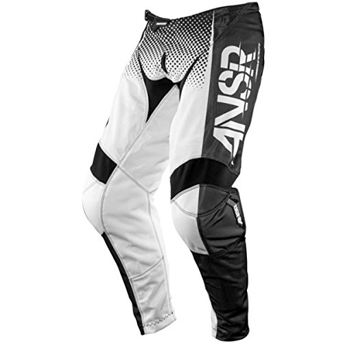Answer Racing A17.5 Syncron Air Men's Off-Road Motorcycle Pants - Black/White / Size 32 (Mens Dirt Bike Pants 32)