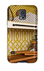 Excellent Design Green Trellis Laundry Room Countertop Phone Case For Galaxy S5 Premium Tpu Case