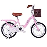 Kids Bikes,2-10 Year Old Children's Bicycle, Girl Pedal Tricycle, Carbon Steel Frame, 4 Sizes (12 Inches / 14 Inches / 16 Inches/18 Inches) Pink (Size : 16 inches)