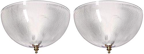 Westinghouse Acrylic Prismatic Dome Clip-On Shade 8