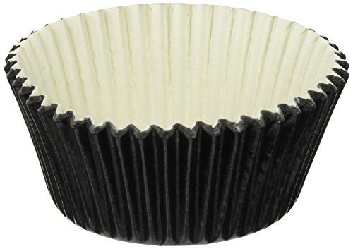 Jubilee Sweet Arts 50 Count Baking Cups, Standard, Black Foi