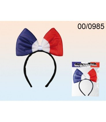 Headband French Flag Colours Bow Lotoquine