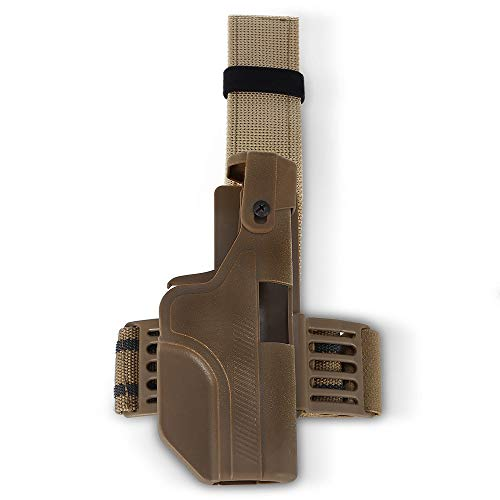 Dig dog bone Universal Quick Pull Glock Automatic Upper Leg Holster Tactical Leg Cover (Color : Khaki, Style : ()