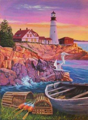 Cobble Hill Lighthouse Cove 1000 Piece Puzzle by Cobble Hill Puzzle