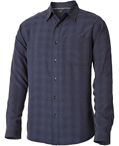 Royal Robbins San Juan Plaid Long Sleeve Shirt,NAVY,X-Large