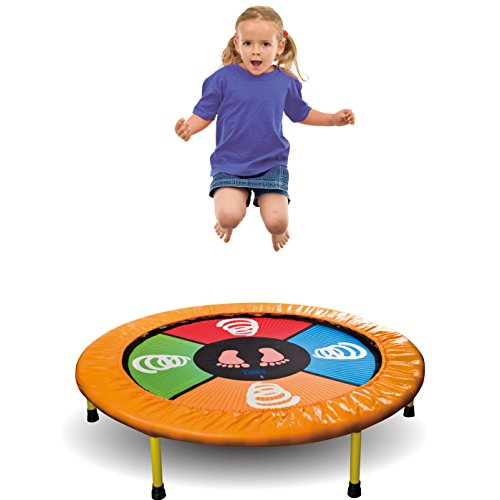 """Dimple """"Dance Jump & Play"""" Kid's Mini Electronic Trampoline, With Exciting Fun Touch Playmat, LED Scoreboard with lights & Sounds, Connects to Smartphone, Great Gift for Children by Dimple"""
