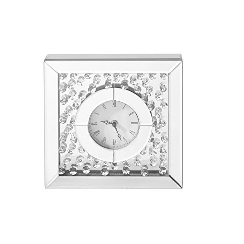 Decor Central ADMIR-27348 Crystal Square Table Clock, 10