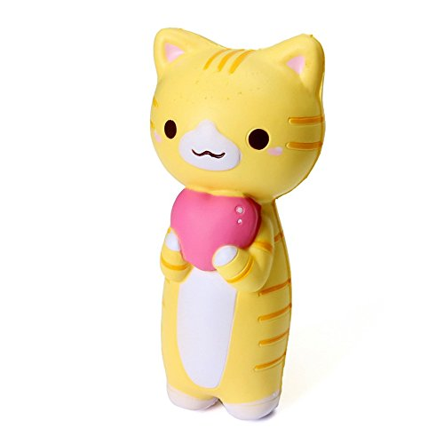 [Squishy Jumbo Kitten Cat Love Heart 14cm Slow Rising Original Packaging Collection Gift Decor] (Homemade Penguin Costumes)