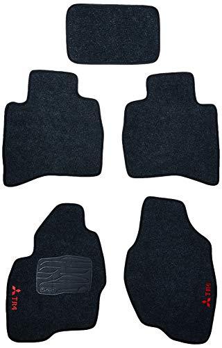 Kit de 5 peças, Tapete Carpete, Flash Acessórios, TR4 Grafite (05 Peças)