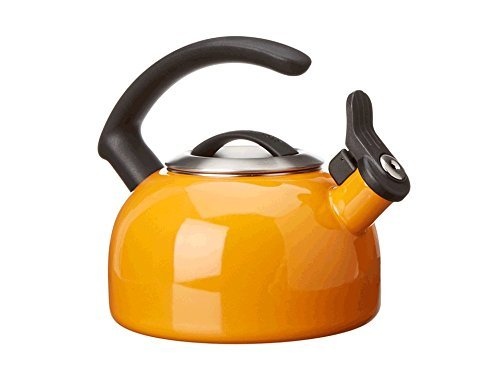 KitchenAid 1.5-Quart Removable Lid Tea Kettle with Audible Whistle and C Handle KTEN15ANDO Mandarin Orange