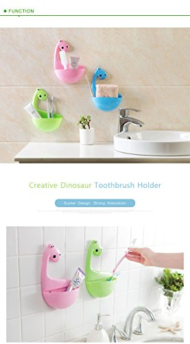 1pc. Dinosaur Sucker Toothbrush Holder Bathroom Accessories Organize Box Kitchen Gadgets Storage Rack