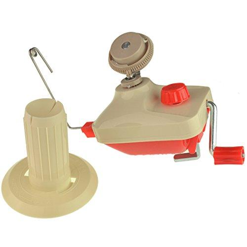 SODIAL Household Manual Bobbin Winder Hand Operated Yarn Fiber String Ball Winder Holder