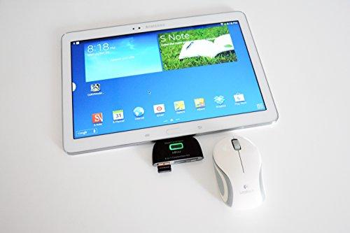 Lector de tarjetas y HUB USB 4 en 1 para Smartphones y tablet Android
