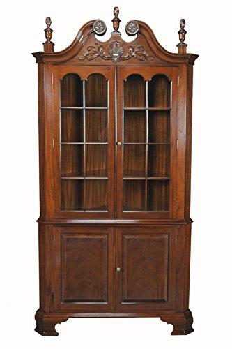 Mahogany Victorian Cabinet - Victorian Solid Mahogany Corner Cabinet