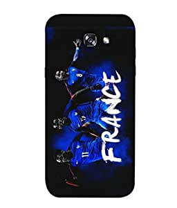 ColorKing Football franceTeam france 01 Black shell case cover for Samsung A7 2017