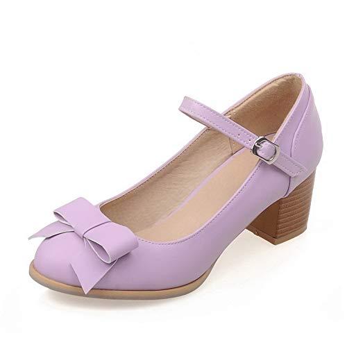 EU SDC05672 AdeeSu 5 Sandales Femme Violet Violet Compensées 36 O88arW67