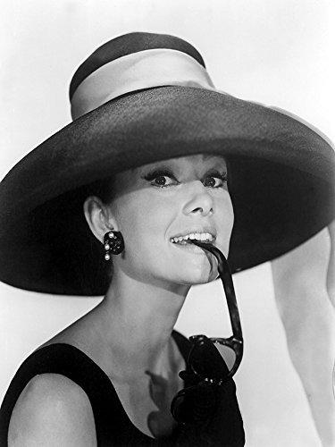 Buyartforless Audrey Hepburn in Summer Hat 12x16 Art