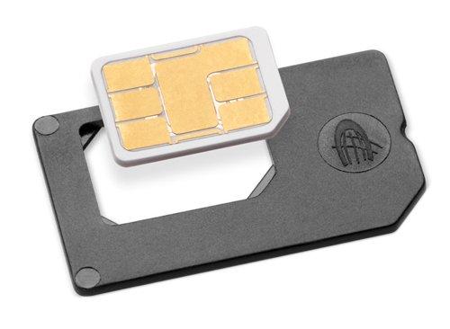 TO2FFBLK Nano SIM to Full SIM Card Adapter - Retail Packaging - Gray ()
