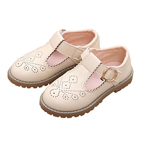 735326376a6 WUIWUIYU Girls  T-Strap Oxfords Shoes School Uniform Dress Mary Jane Flats ( Toddler