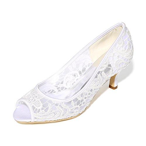 De Rosa White Noche Tacones Fiesta Altos Las Mujeres Zapatos Negro Satén yc Ballet L Y Blanco Boda RwEAAq