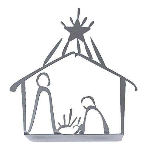 Tabletop Christmas Holiday Nativity Silver product image