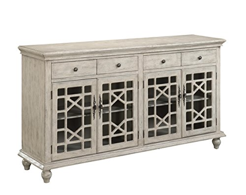 Cheap Four Door Four Drawer Media Credenza