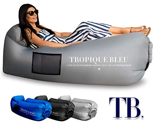 Tropique Bleu Inflatable Couch Air Lounger Waterproof Anti-Air Leaking