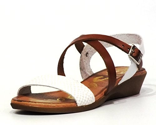 Sandalia piel Oh! my Sandals 3609 Blanco