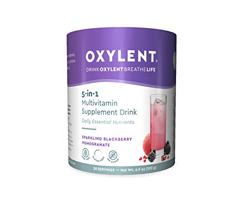Cheap Oxylent 5-in-1 Multivitamin Sparkling BlackBerry Pomegranate Supplement Drink, 6.9 Ounce